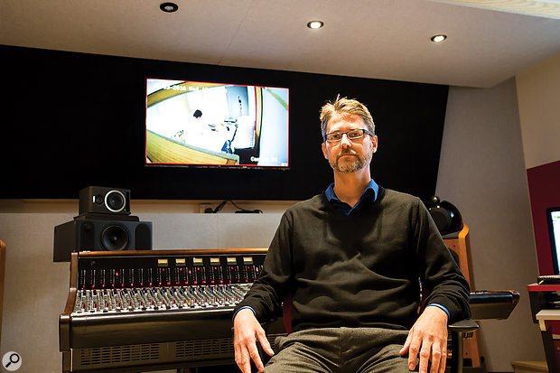 Programme Director Carlos Lellis pictured in the control room of the Institute's dedicated studio.
