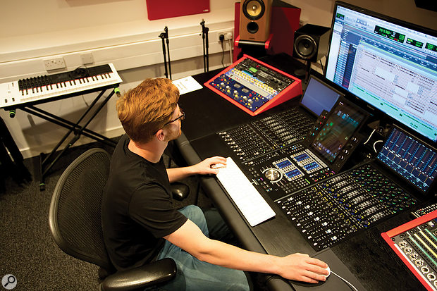 As well as the main two-room studio, students also have access to a couple of smaller production suites.