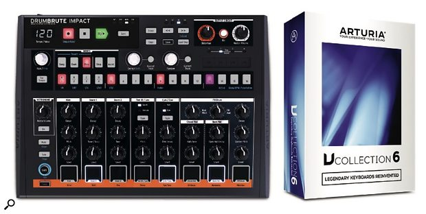 Arturia DrumBrute Impact with V Collection 6 software.