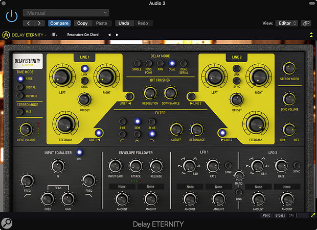 Eternity, unlike the other delays in this bundle, is an original design, rather than being modelled on classic hardware.