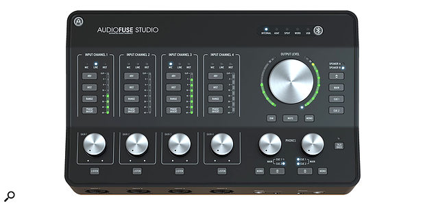 The new Audiofuse Studio interface.