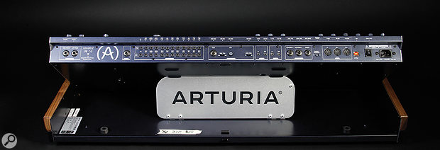 See the 'The Rear Panel' box for a  full explanation of the MatrixBrute's well-populated rear panel.
