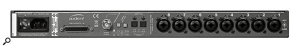 On the rear panel, you'll find a  switch to optimise the ASP800 for use alongside the company's iD14 or iD22 audio interface — but it will, of course, work as an expander for any ADAT-equipped audio interface.
