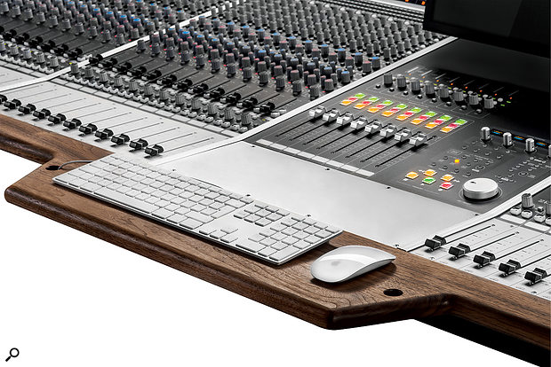 The optional arm/keyboard rest is one of many small but useful new features in the Heritage Edition version of the ASP8024.