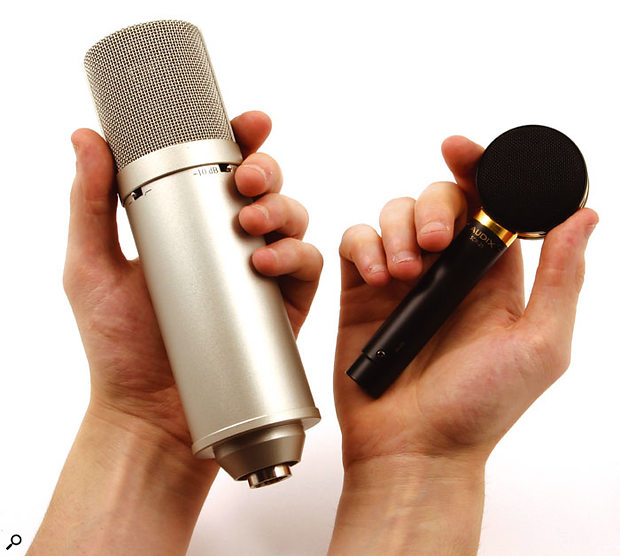 In comparison with many other large-diaphragm mics, the SCX25 is remarkably compact, and it's therefore much easier to position in cramped spaces, for example under a piano lid.