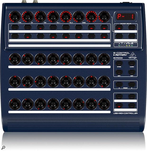 Behringer BCR2000 control surface.