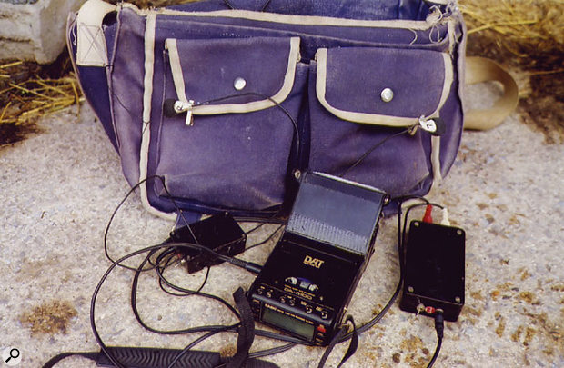 Steve Marshall's portable recording setup, based around a Casio DAT recorder.