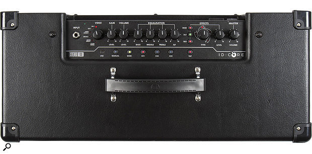 As on other Core-series amps, the top panel provides access to a number of useful controls. On this particular model, the chorus and flanger controls have been combined to make room for an additional Octaver effect.