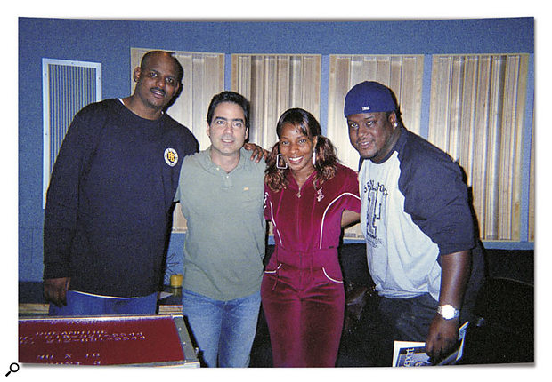 Mechalie Jamison, Mary J and Don Pooh humour me for a minute before Mary finishes some vocals.