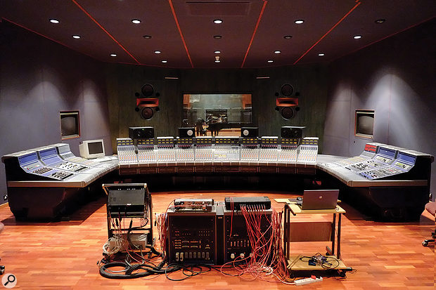 The control room at BOP Studio 1 features one of only 10 Focusrite Studio Consoles ever built.