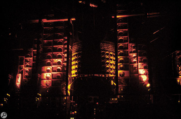 A previous alternative to the 'triple-system' PA: The Grateful Dead's vast Wall Of Sound system in 1974.