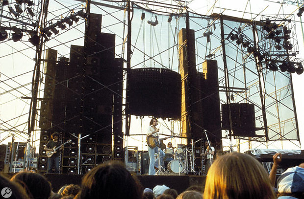 The Wall Of Sound in action at a Grateful Dead gig the same year.