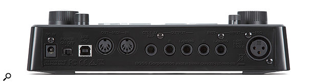 The I/O caters for both mono and stereo signals, as well as offering MIDI and USB connectivity.