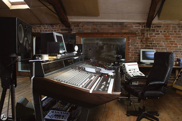The control room at Elevator Studios is based around an Amek Mozart analogue desk.
