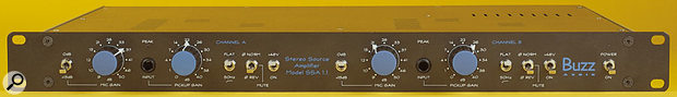 Buzz Audio SSA1.1 front panel controls.