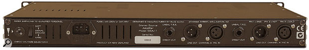 Buzz Audio SSA1.1 rear panel.