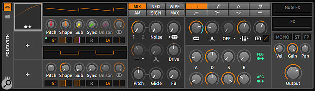 Polysynth rebooted in Bitwig Studio 2, with generic modulators.