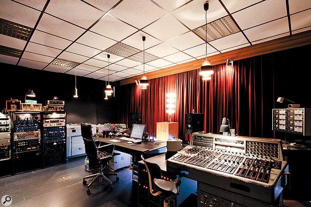 The Candy Bomber Studio 1 control room.