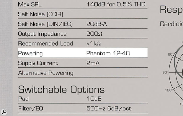 Most condenser mics will require phantom power to be provided from the mic preamp at a nominal 48V, but in practice some microphones are fussier than others about what phantom voltage they need. A glance at the specs will usually indicate the range of voltages over which a given mic can be used.