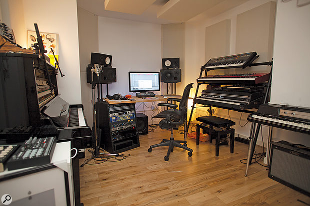 Jack Patterson's writing room at Club Ralph Studios in London.