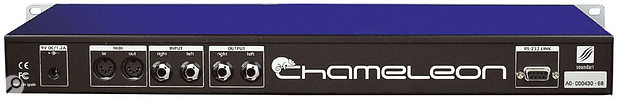 For a unit of such potential complexity, the Chameleon has a very spartan rear panel — stereo analogue ins and outs, power connections and MIDI I/O (but no MIDI Thru!). The RS232 socket for programmers is the only other connector.