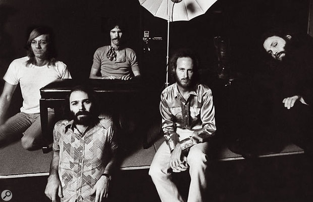 Botnick (bottom left) with the Doors. This photo dates from the LA Woman sessions in 1971.