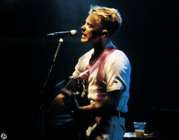 Guitarist Bernard Sumner took up the role of lead vocalist when Joy Division singer Ian Curtis died and the remainder of the band reformed as New Order.