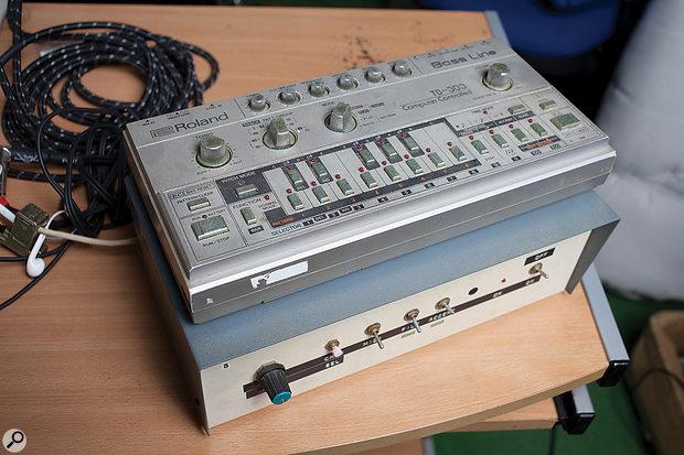 Everybody needs a 303 — and a  Kenton MIDI box that dwarfs it.