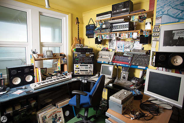 Gear lust? What gear lust? Norman's studio is still almost exactly as it was in the late 1990s.