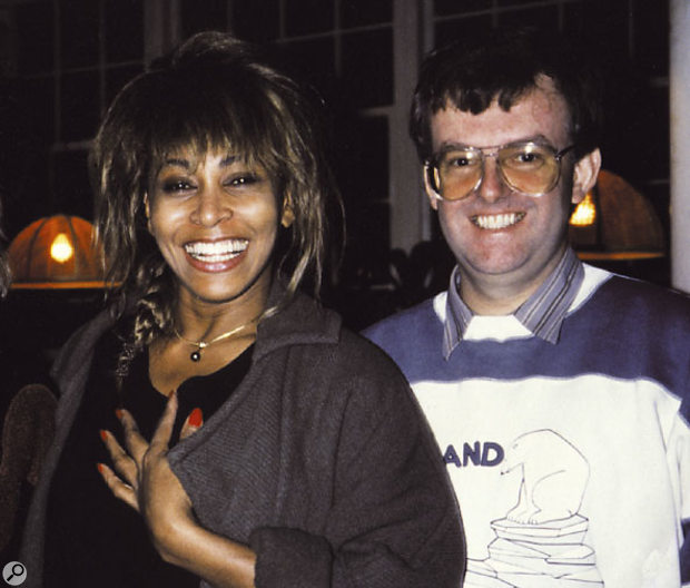 Tina Turner and John Hudson at Mayfair Studios.