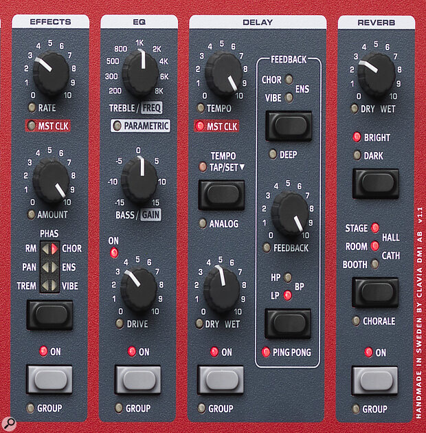 Clavia Nord Wave 2 Effects section.