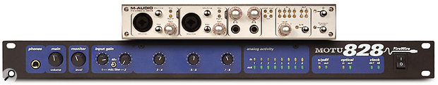Firewire interfaces such as MOTU's 828 and M-Audio's Firewire 1814 work well under Mac OS X, but Logic users cannot address multiple 828s under Core Audio, as they could in OS 9. An application-specific workaround is provided to MOTU users in Digital Performer (and it works for other, non-MOTU interfaces, too), but at the time of writing, an OS-level fix is still not forthcoming.