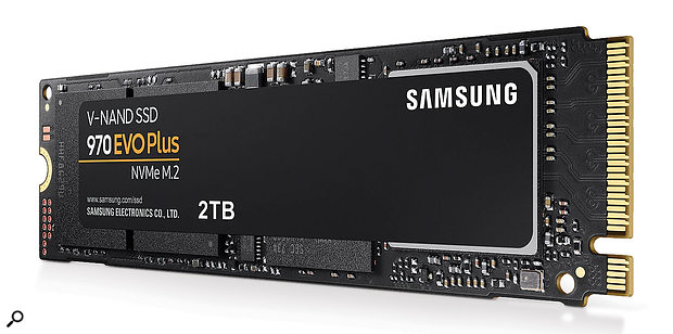 M.2. drives boast read times around six times faster than conventional solid-state drives: perfect not only for operating systems, but also for loading large sample-based projects.