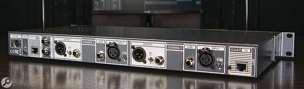 As well as the expected inputs and outputs, the rear panel plays host to the CAST ports and a handy 'Link' socket, which allows you to pass a 'thru' signal from the instrument input to your amp, or to re-amp mic/line signals.