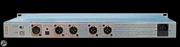 The Solaris sports main and secondary output pairs, and a variety of digital inputs, including a USB connection for use with Mac or Windows machines.