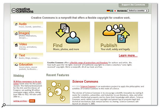 The Creative Commons web site. Here you can read up on the background to the creative commons movement, learn all about the various Creative Commons licences and which is best suited to you, and of course download the licences themselves when you've decided.