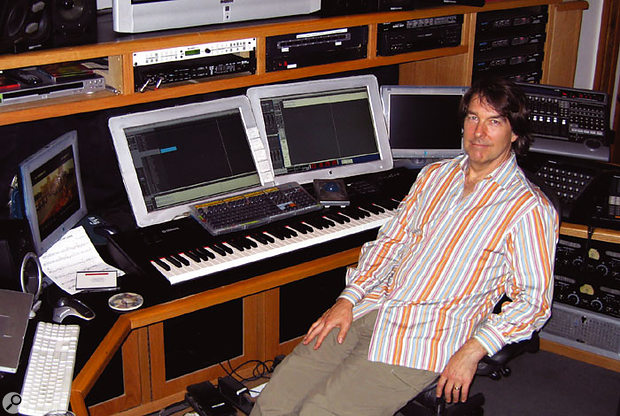 Composer David Newman uses a network of six PCs to produce his demos.