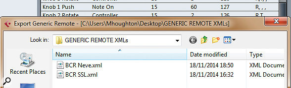 To save your work in the Generic Remote, you need to export it to an XML file. I lost a few hours work before I realised this! Happily, though, you can create as many different versions as you want.