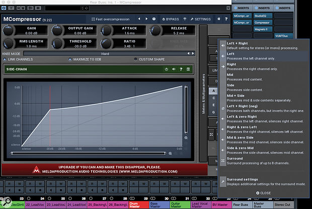 Melda Production's MCompressor is a free compressor that offers unlinked 'dual-mono' operation.
