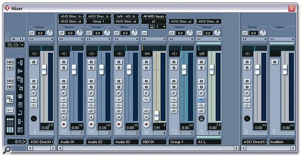 Cubase SX's Mixer.