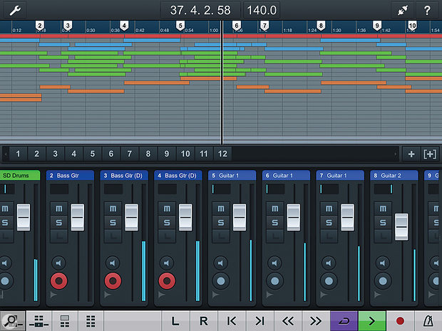 Cubase iC Pro: touchscreen remote control of Cubase (Mac & PC) from an iOS device.