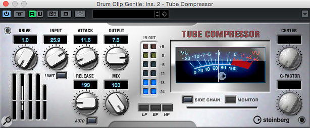While it's not a slavish emulation, the Tube Compressor draws inspiration from the Urei Teletronix LA-2A.