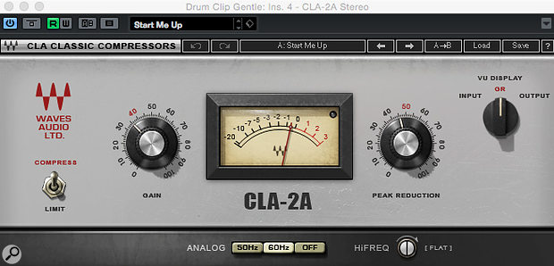 Waves' CLA-2A has fewer controls than the Tube Compressor, but that might be beneficial.