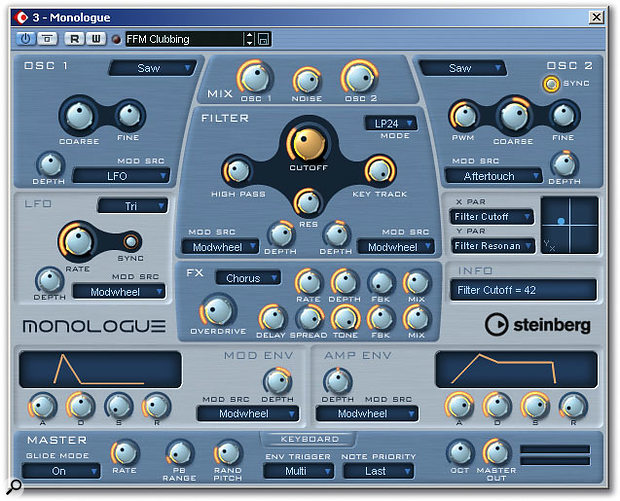 Fancy a free virtual analogue monosynth? Check out Monologue.