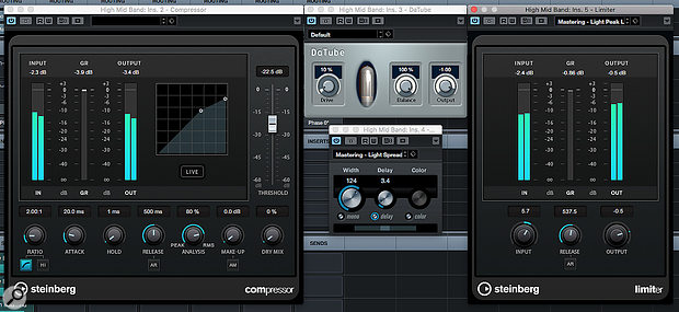 For any mastering task, it's sensible to start with some fairly conservative plug-in settings.