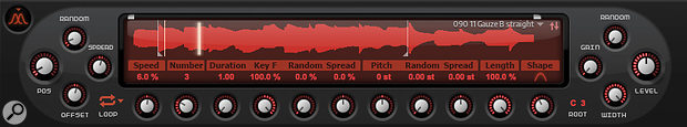 Tweaks to the number of grains, their relative starting position and the playback speed produce timbral changes, but not always a very musical result.