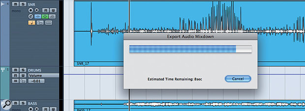 Thissingle screen to show the progress of bouncing all of your tracks might look simple, but Cubase users have been waiting for it for along, long time!