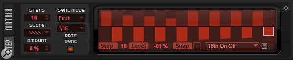The Step Modulator provides a very flexible modulation source.