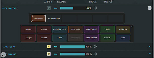 While I've only used a touch of overdrive in my example, MultiTap Delay's effects options provide plenty of interesting possibilities.