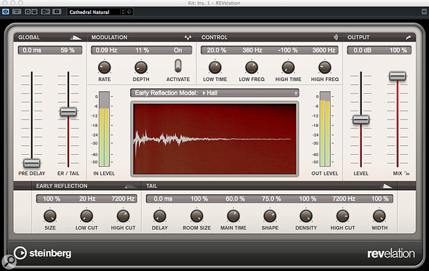 Revelation, Cubase's 'upmarket' algorithmic reverb, isn't the resource hog that you might expect.
